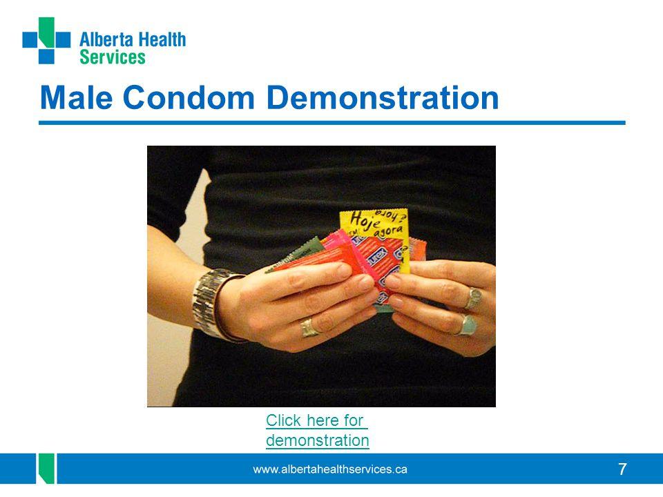 Male Condom Demonstration