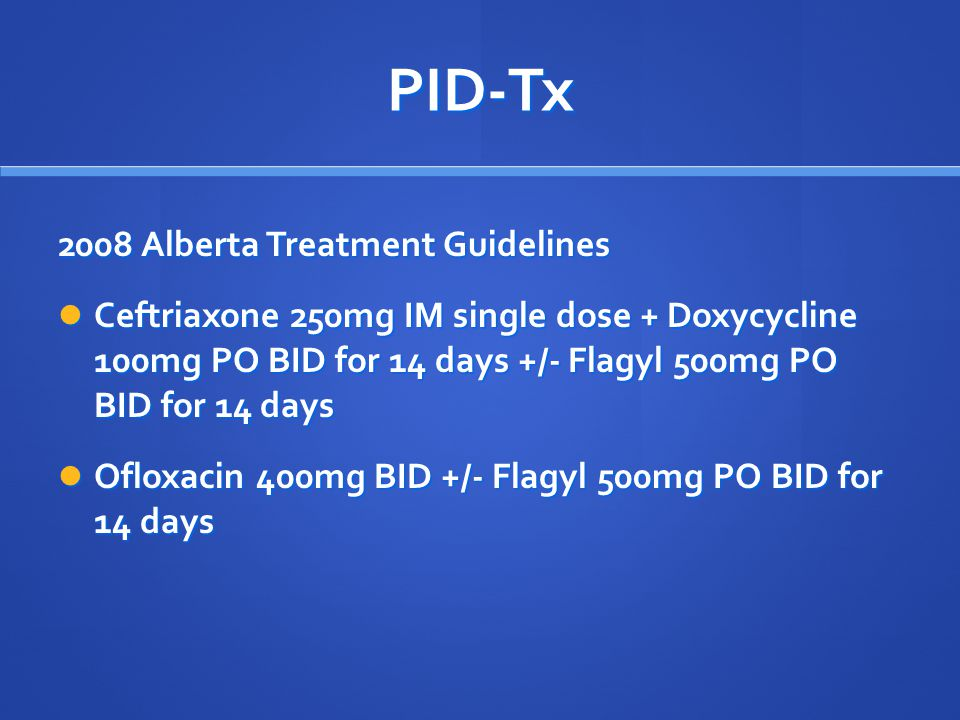 PID-Tx 2008 Alberta Treatment Guidelines