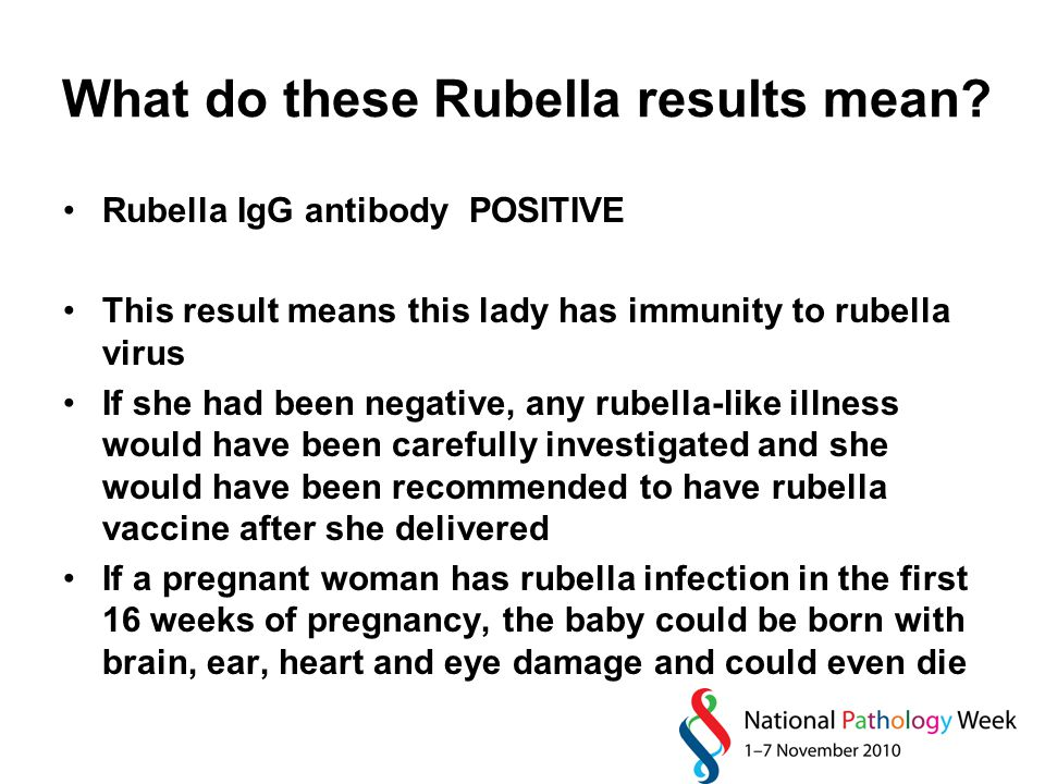 What do these Rubella results mean