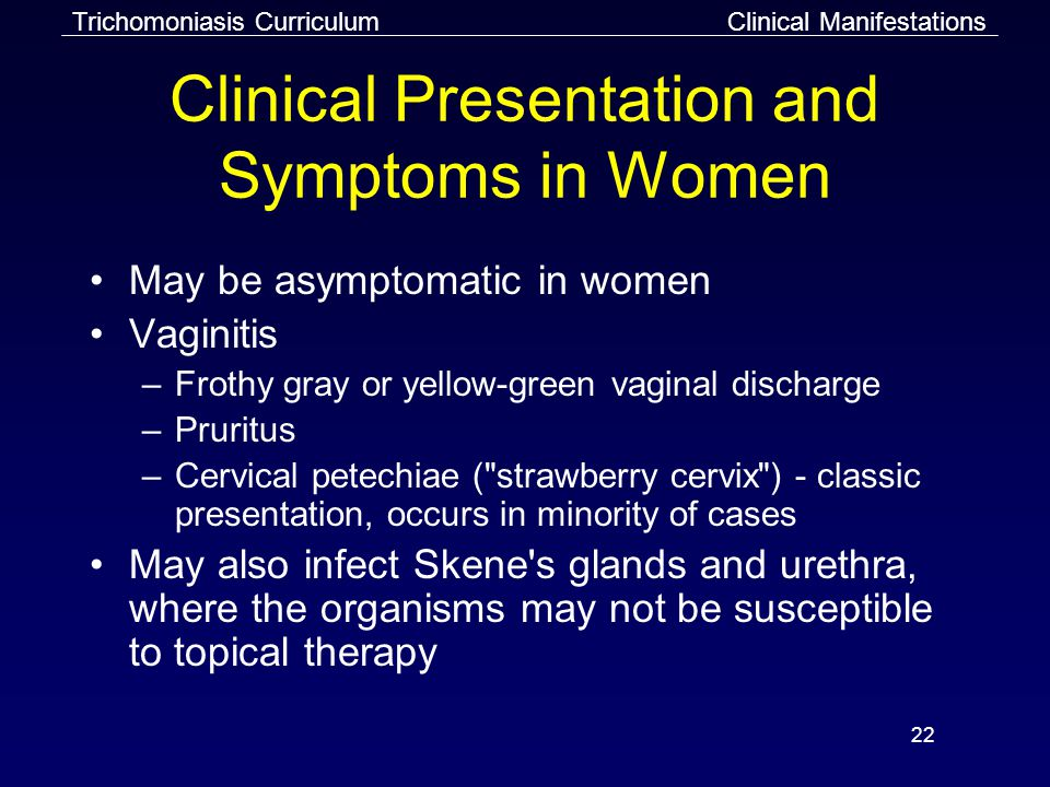 Clinical Presentation and Symptoms in Women
