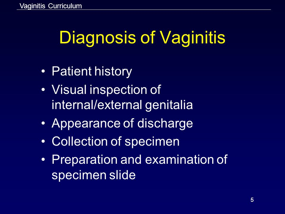 Diagnosis of Vaginitis