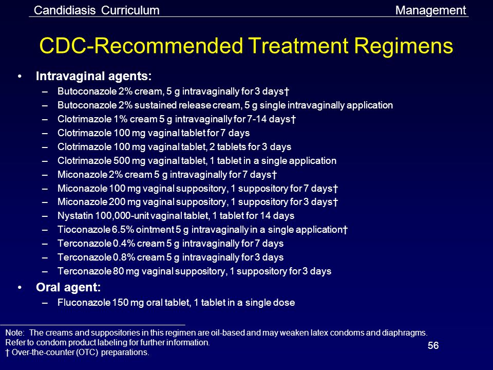CDC-Recommended Treatment Regimens