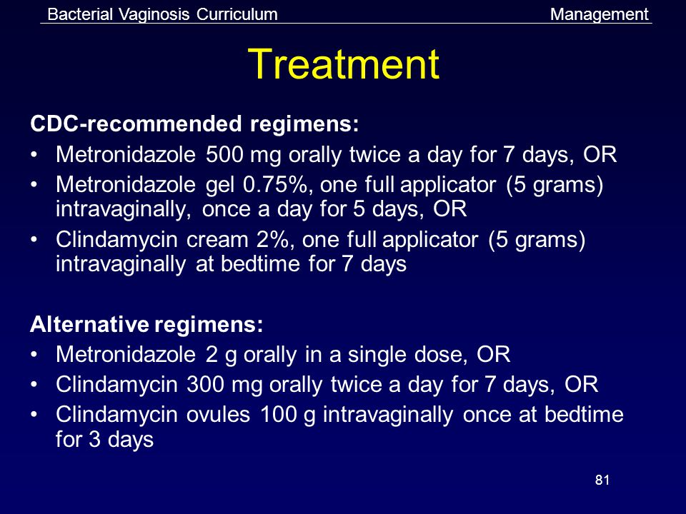 Treatment CDC-recommended regimens: