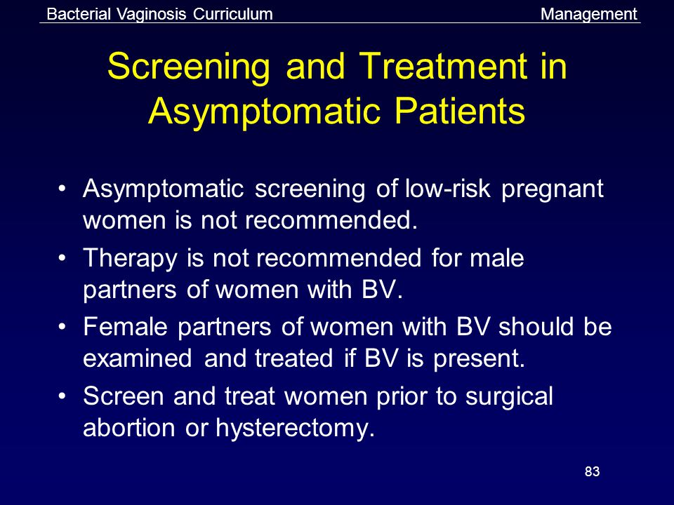 Screening and Treatment in Asymptomatic Patients