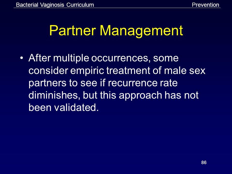 Bacterial Vaginosis Curriculum