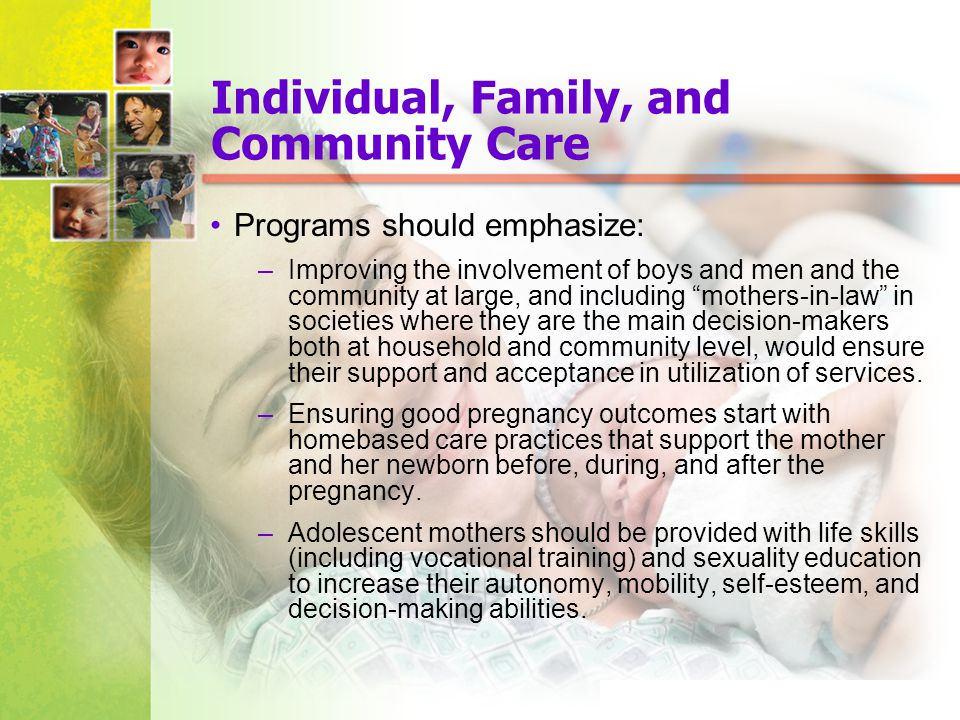 Individual, Family, and Community Care