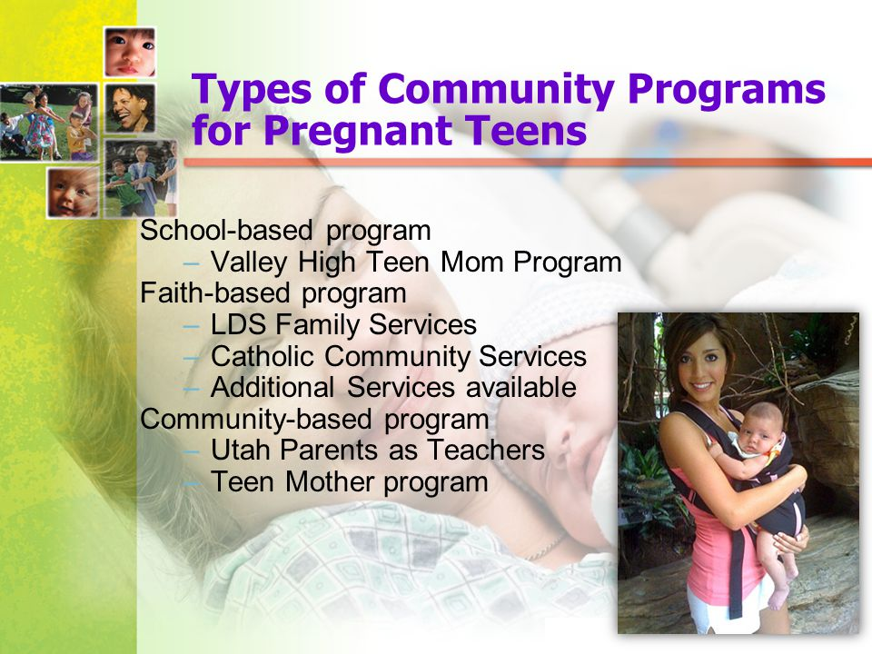 Types of Community Programs for Pregnant Teens