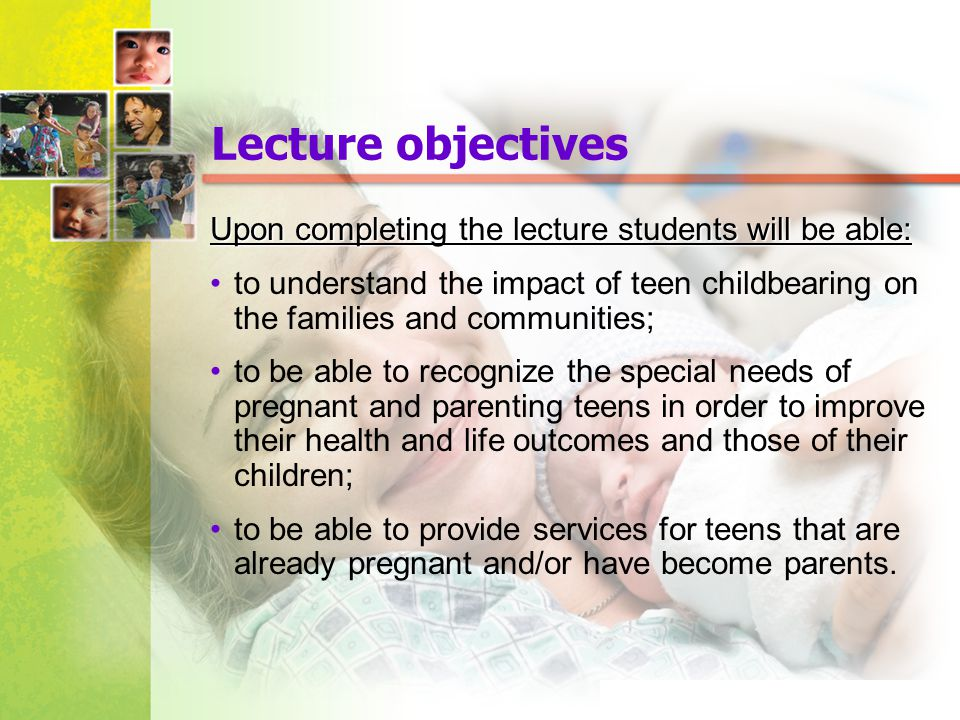 Lecture objectives Upon completing the lecture students will be able: