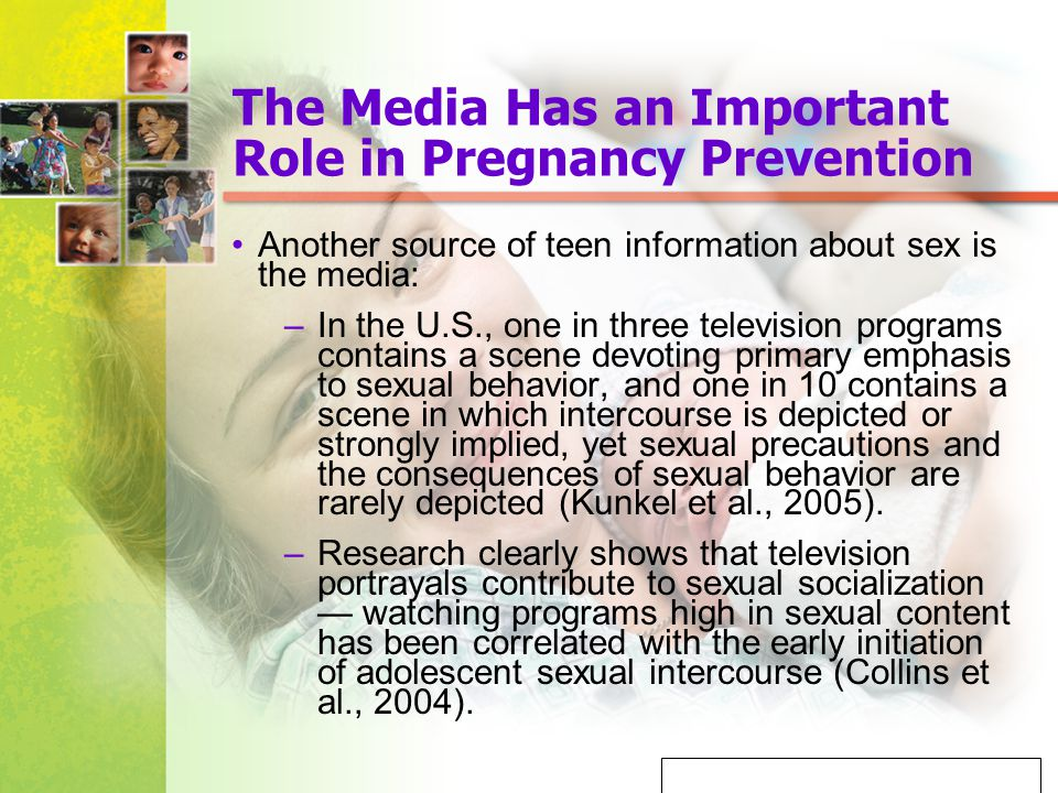 The Media Has an Important Role in Pregnancy Prevention