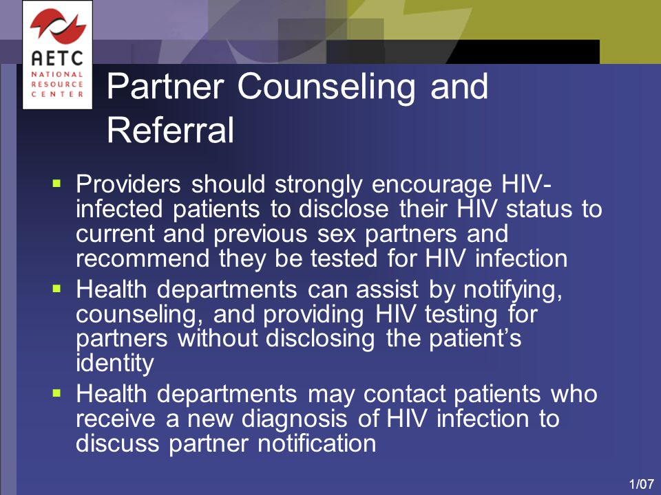 Partner Counseling and Referral