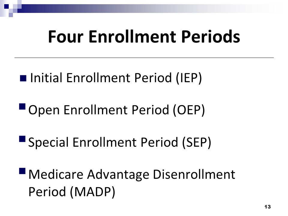 Four Enrollment Periods