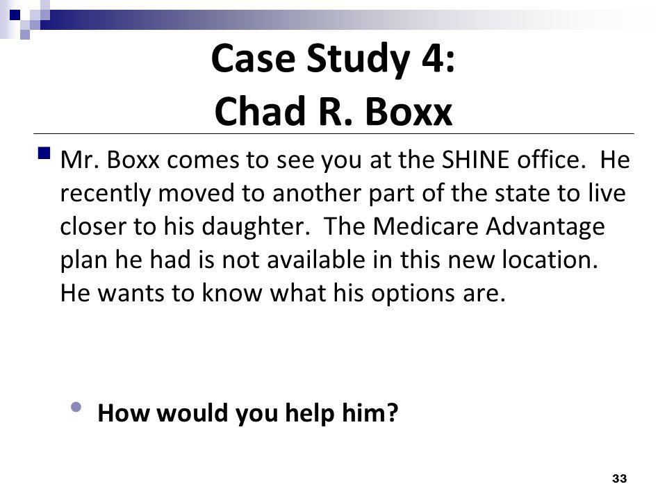 Case Study 4: Chad R. Boxx