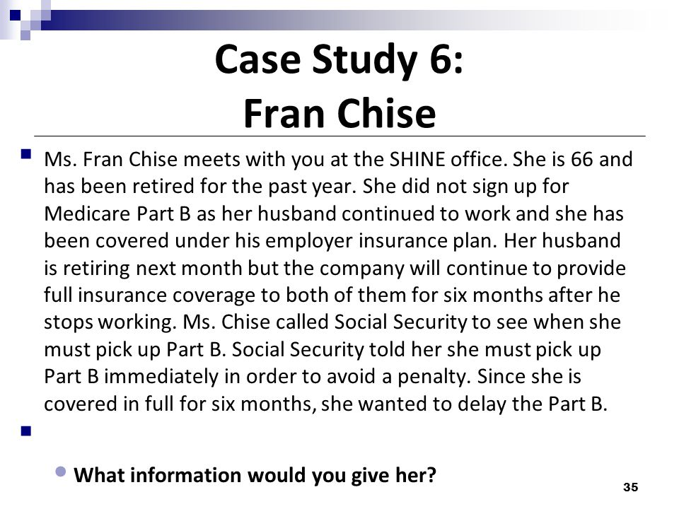 Case Study 6: Fran Chise
