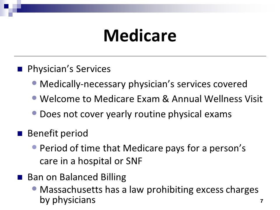 Medicare Physician's Services