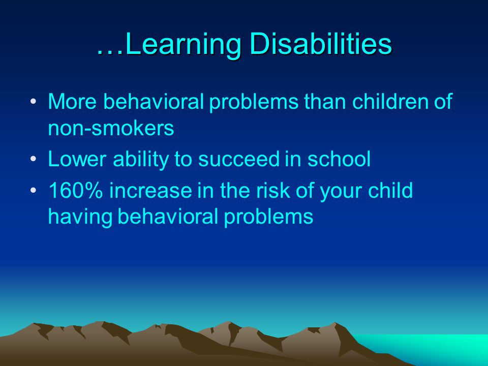 …Learning Disabilities