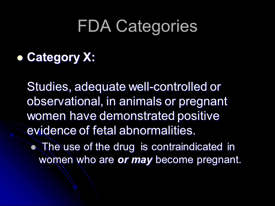 FDA Categories