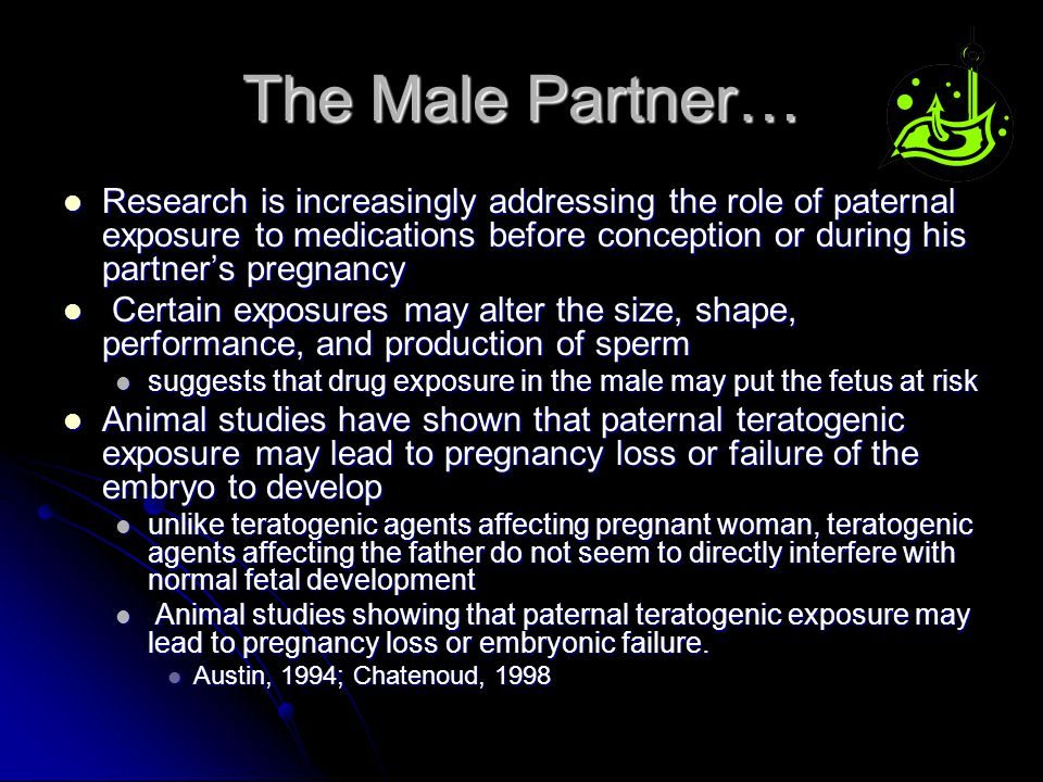 The Male Partner…