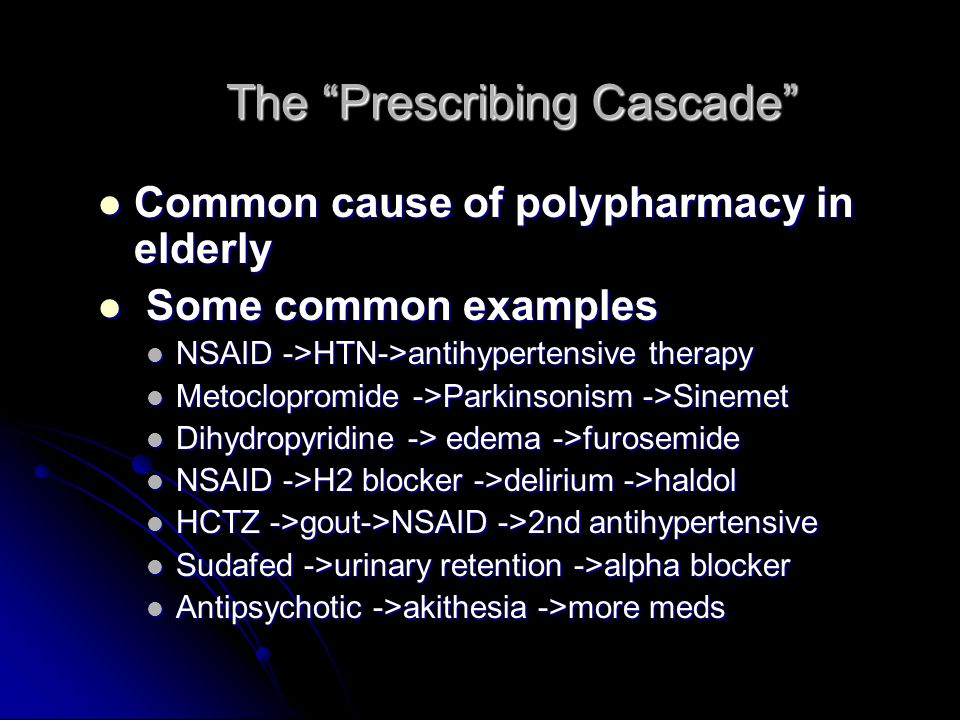 The Prescribing Cascade