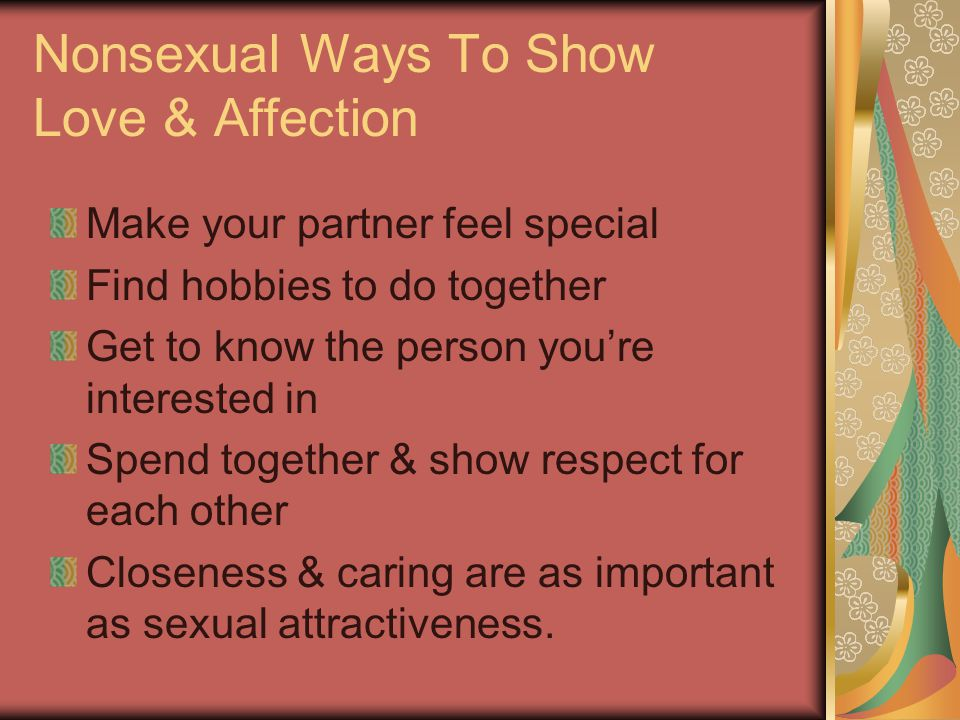 Nonsexual Ways To Show Love & Affection