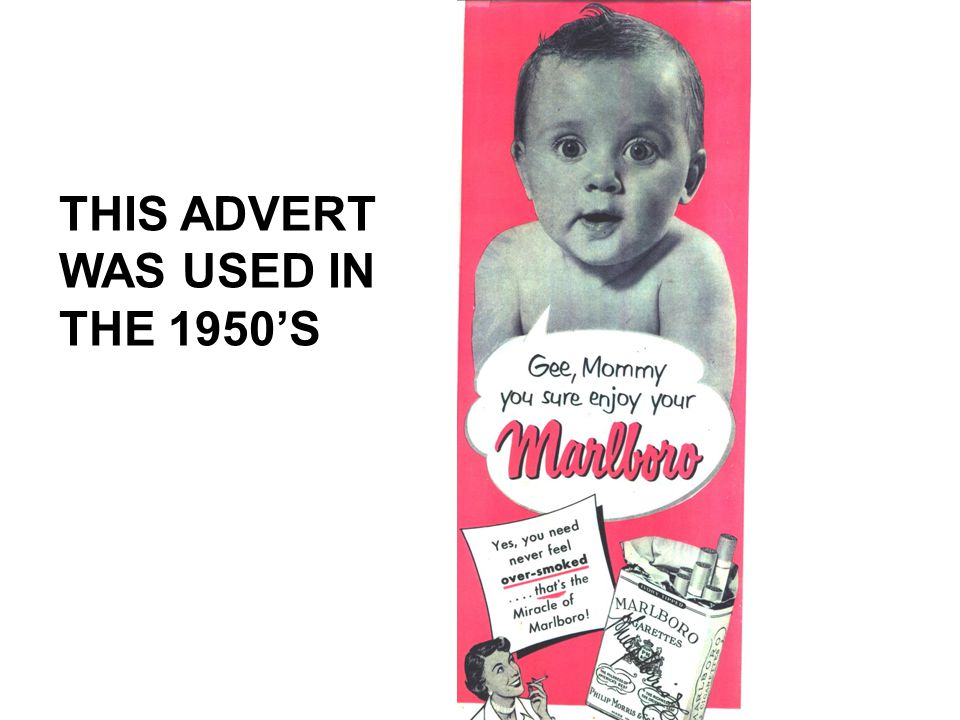 THIS ADVERT WAS USED IN THE 1950'S