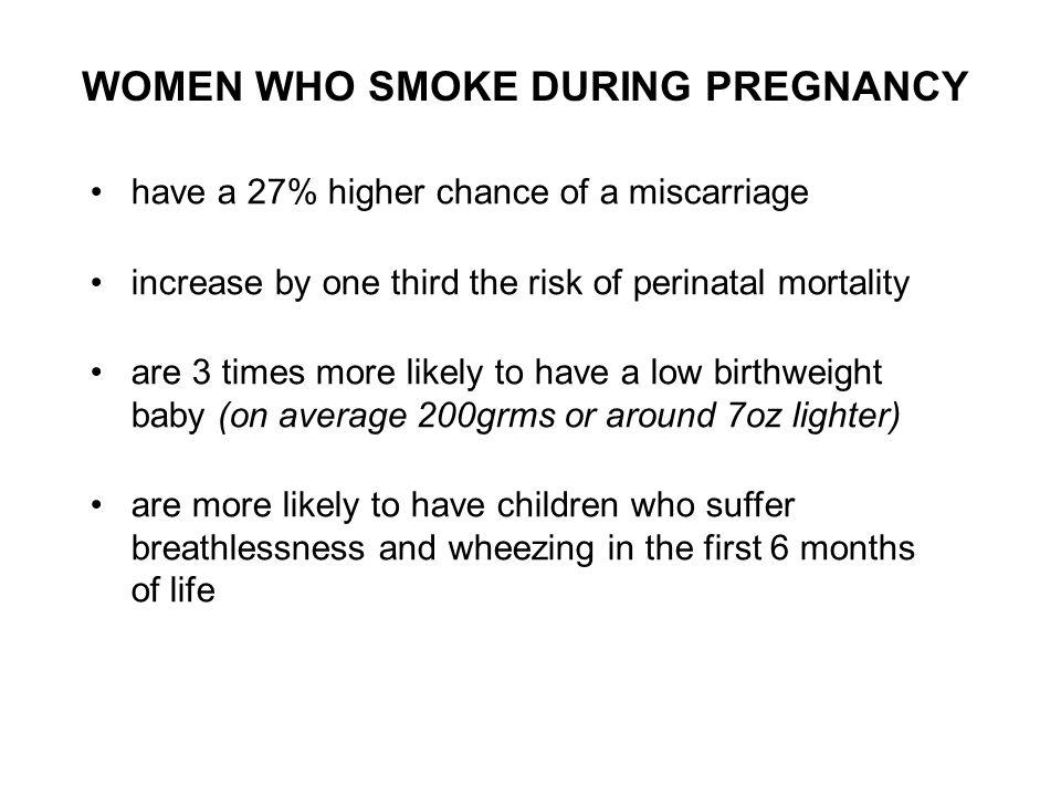 WOMEN WHO SMOKE DURING PREGNANCY