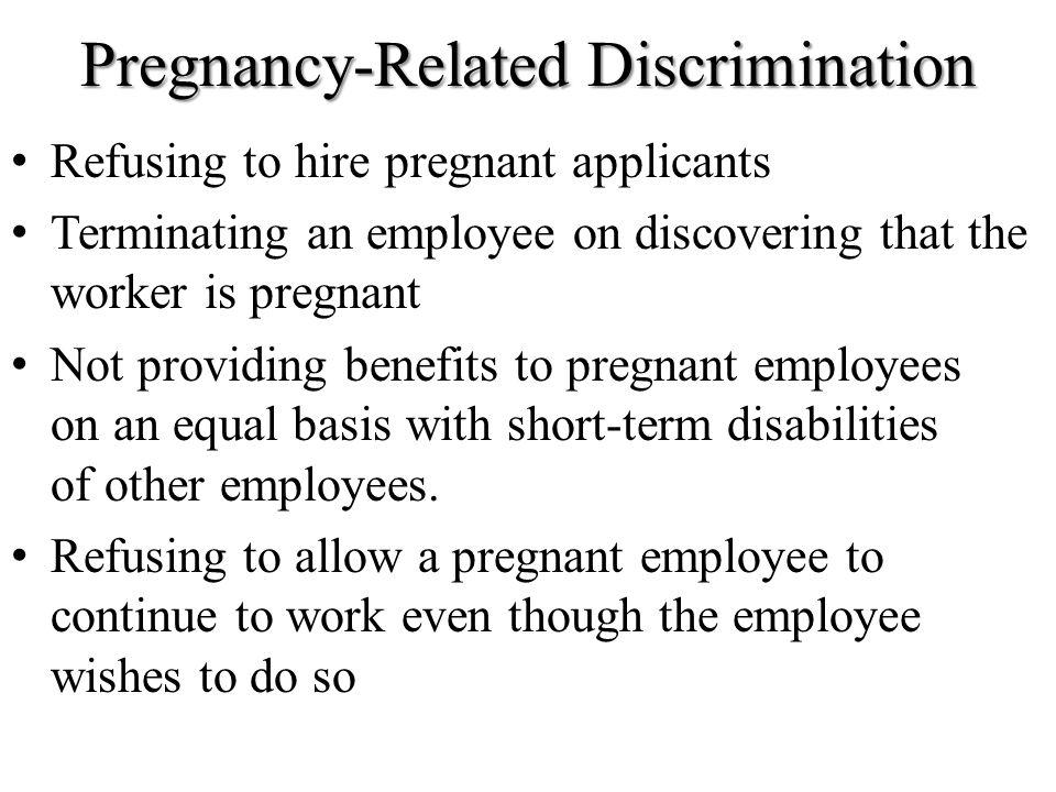 Pregnancy-Related Discrimination