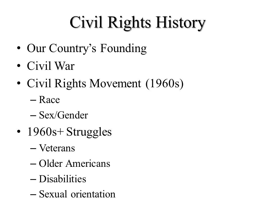 Civil Rights History Our Country's Founding Civil War