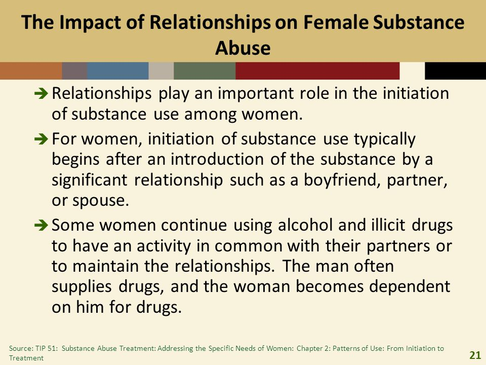The Impact of Relationships on Female Substance Abuse