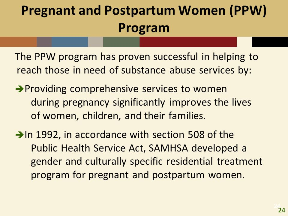 Pregnant and Postpartum Women (PPW) Program