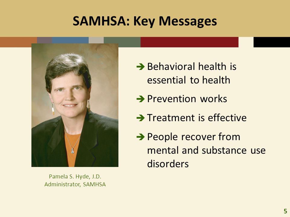 Pamela S. Hyde, J.D. Administrator, SAMHSA
