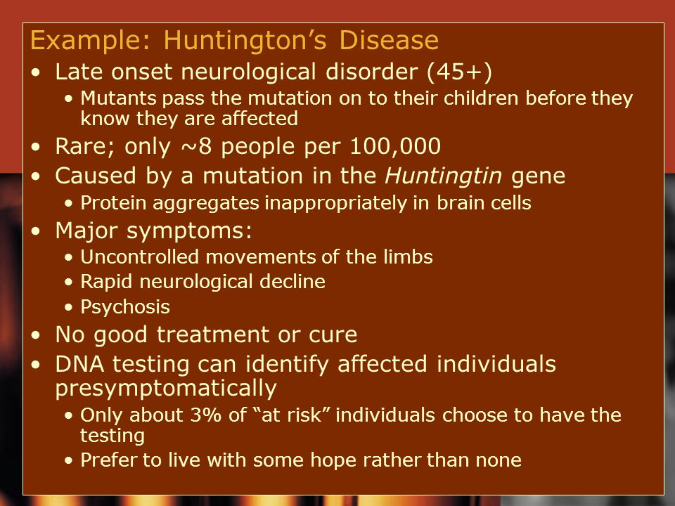 Example: Huntington's Disease