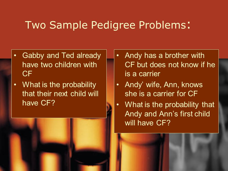 Two Sample Pedigree Problems: