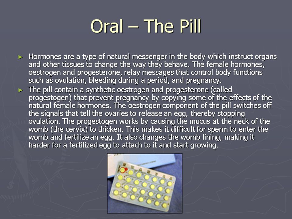 Oral – The Pill