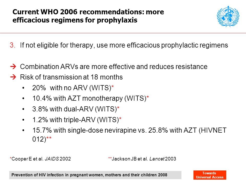 Combination ARVs are more effective and reduces resistance