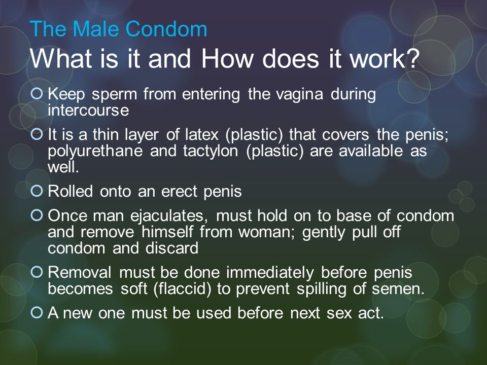 The Male Condom What is it and How does it work