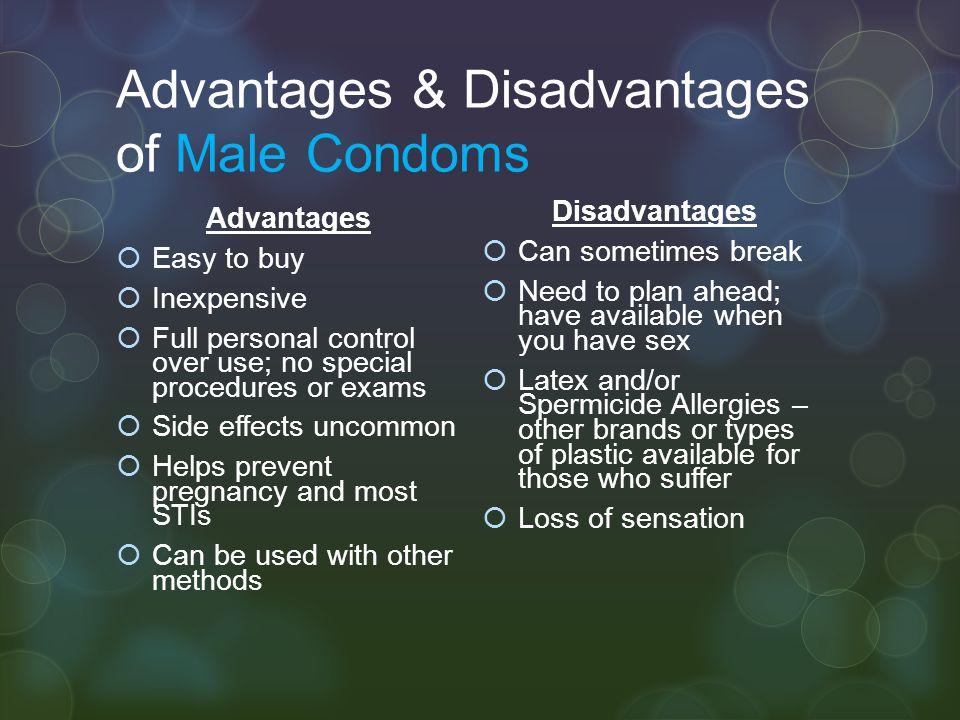 Advantages & Disadvantages of Male Condoms