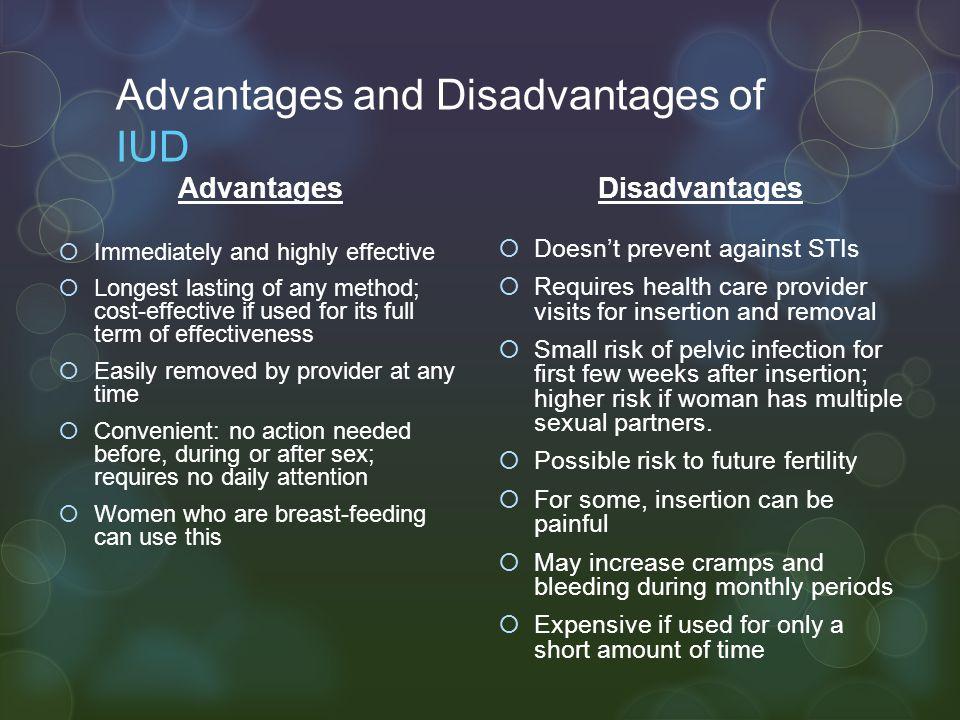 Advantages and Disadvantages of IUD