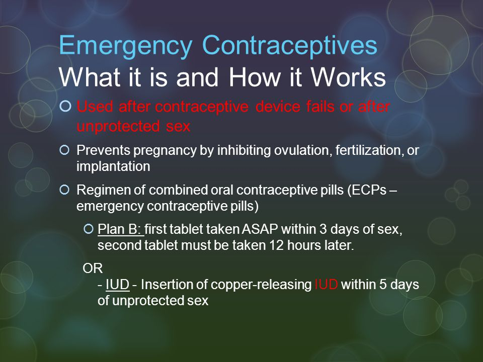 Emergency Contraceptives What it is and How it Works