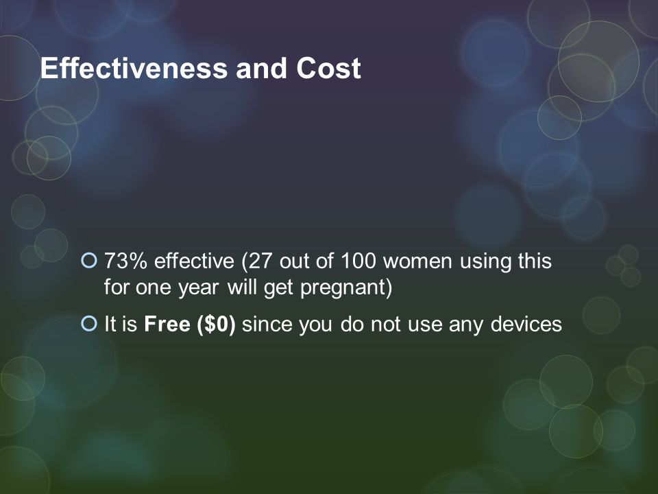 Effectiveness and Cost