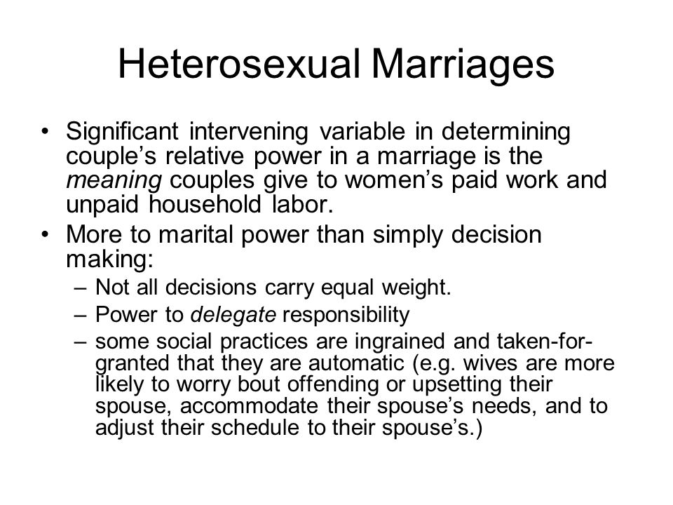 Heterosexual Marriages