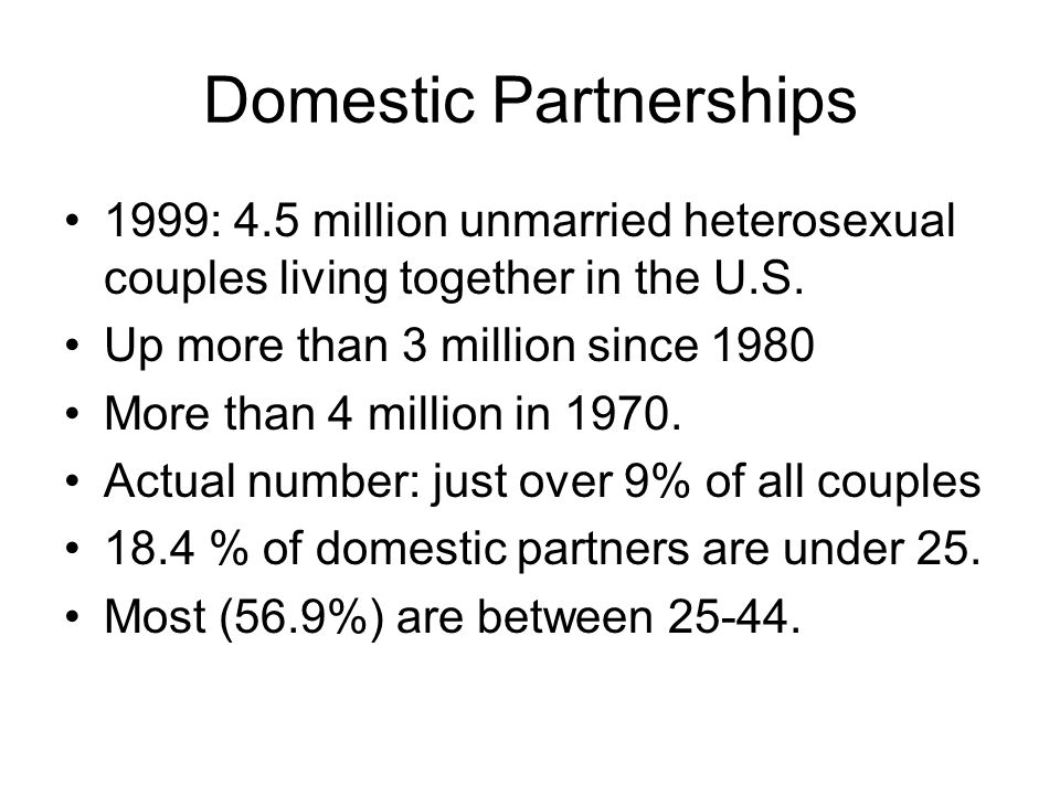 Domestic Partnerships