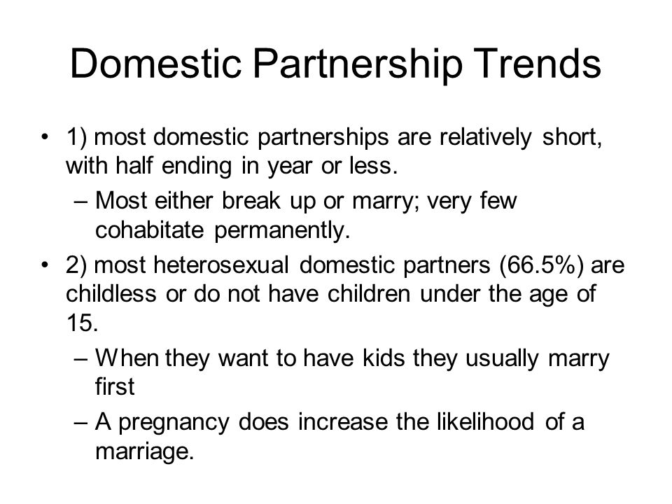 Domestic Partnership Trends