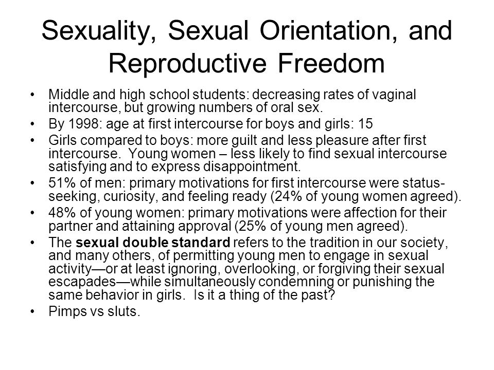 Sexuality, Sexual Orientation, and Reproductive Freedom