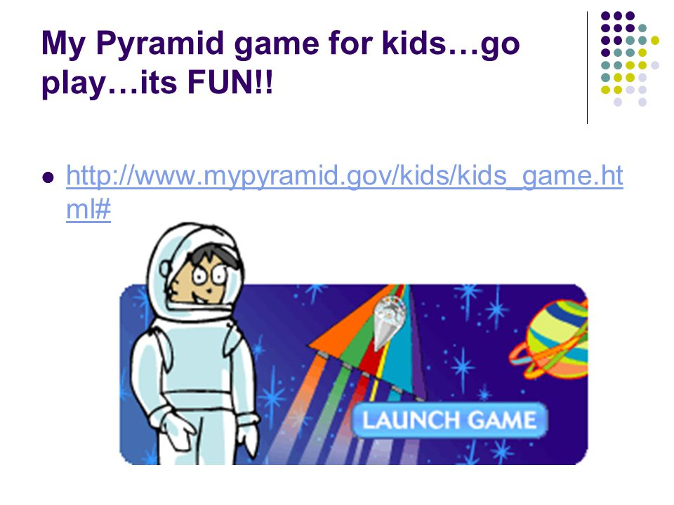 My Pyramid game for kids…go play…its FUN!!