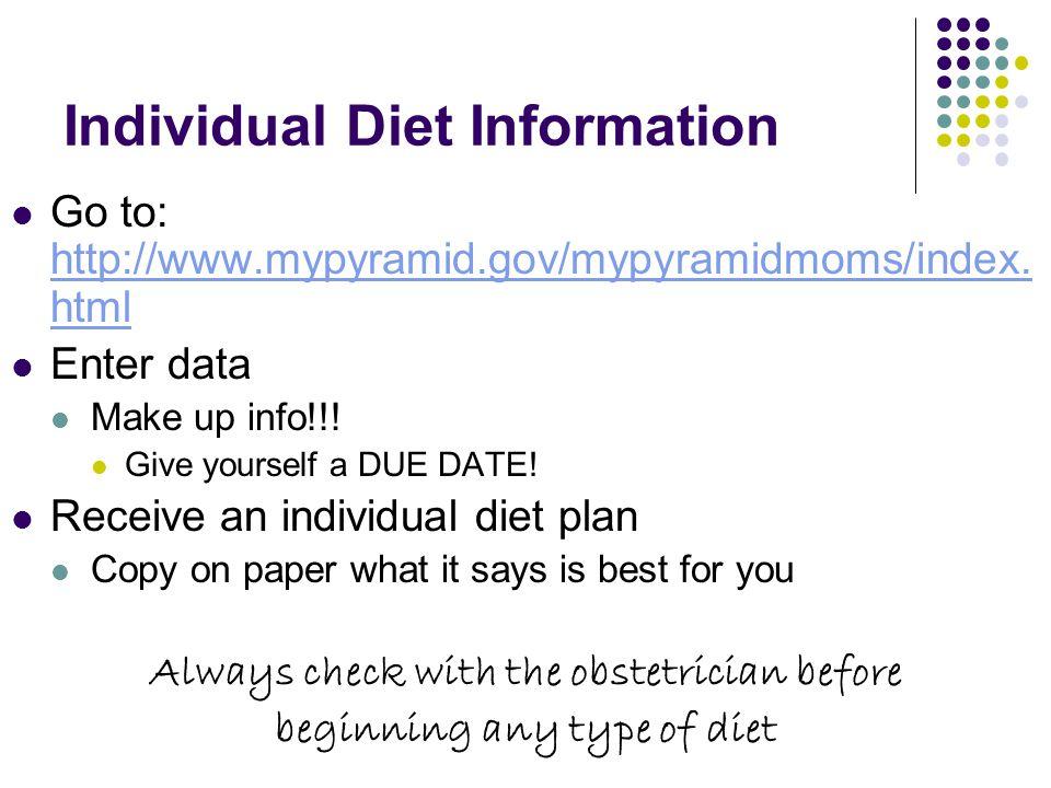 Individual Diet Information