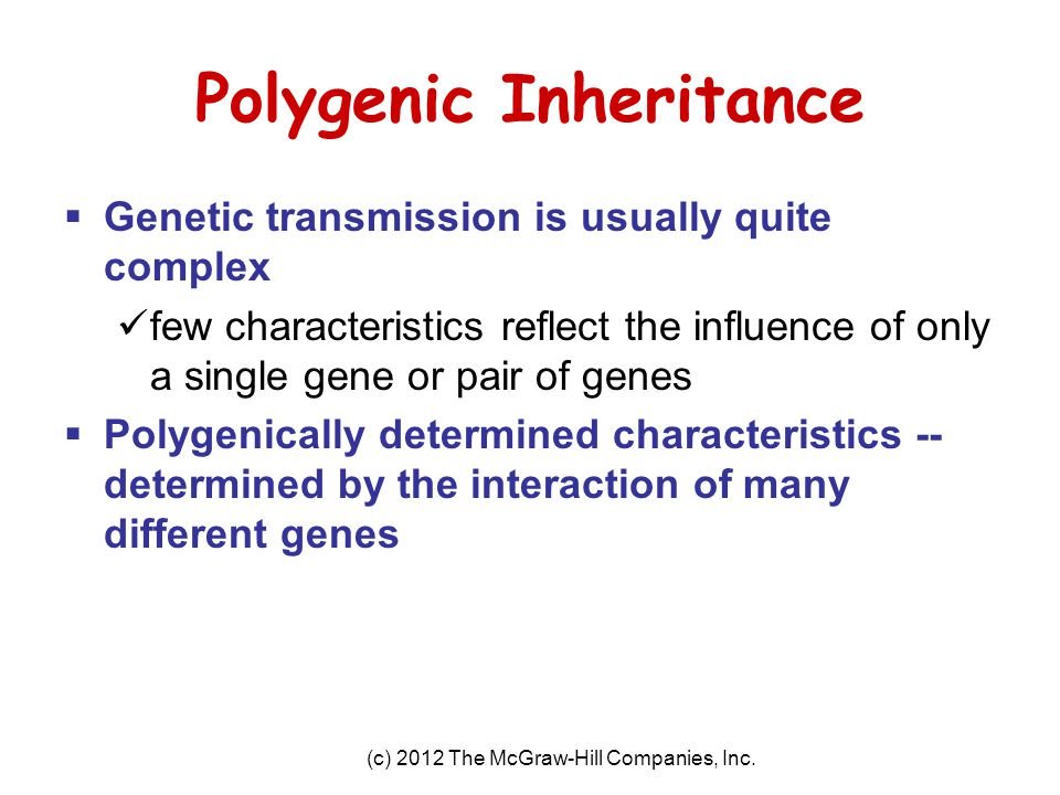 Polygenic Inheritance