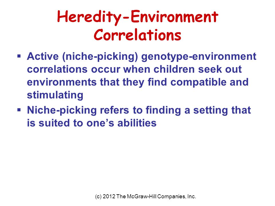 Heredity-Environment Correlations