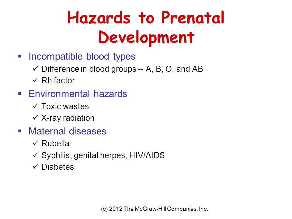 Hazards to Prenatal Development