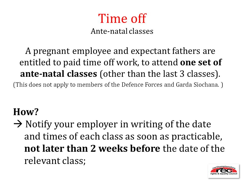 Time off Ante-natal classes