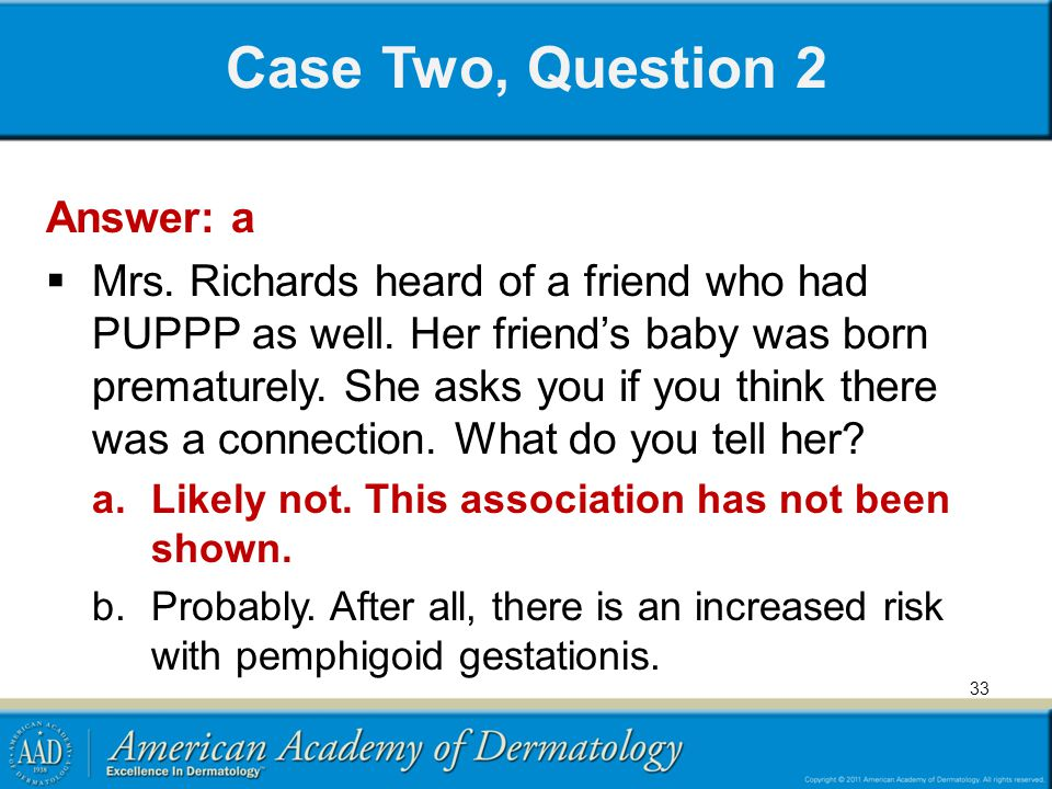 Case Two, Question 2 Answer: a